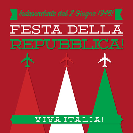 italy background: Italian Republic Day card in vector format.