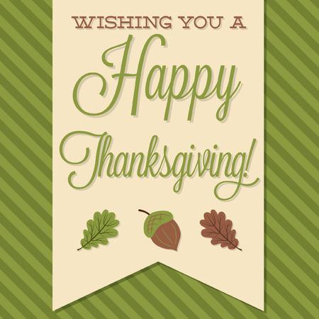 sash: Sash Happy Thanksgiving card in vector format.