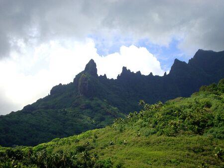 polynesia: View of Moorea, French Polynesia.