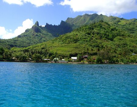 moorea: View of the lagoon in Moorea, French Polynesia.