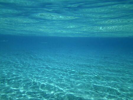 bora: Matira beach below the water. Bora Bora, French Polynesia. Stock Photo