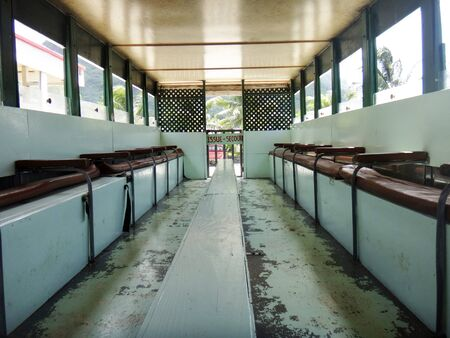 otemanu: Le Truck (the school bus that doubles up as a tour bus) Bora Bora, French Polynesia.