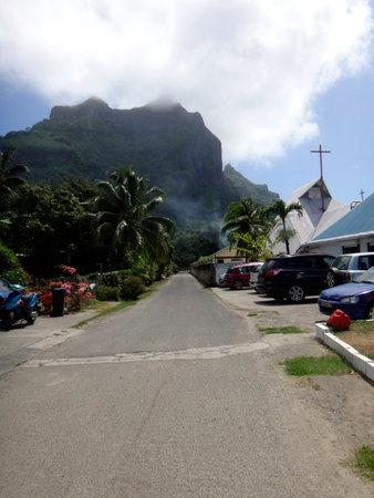 otemanu: The town of Viatape, Bora Bora, French Polynesia.