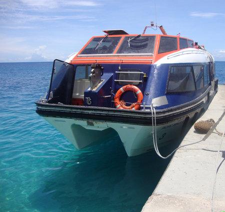 polynesia: Port operations, Rangiroa, French Polynesia Editorial