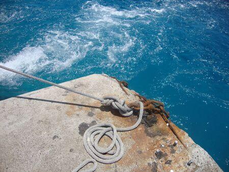 polynesia: Port operations, Rangiroa, French Polynesia Stock Photo