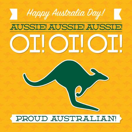 Typographic retro Australia Day card in vector format. 免版税图像 - 50103058