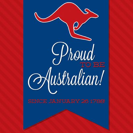 sash: Australia Day sash card in vector format. Illustration