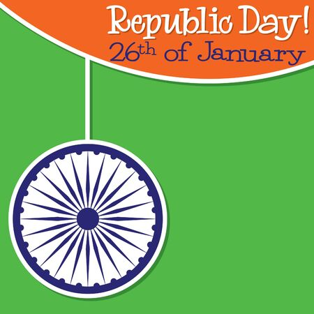 sub: Bright string Indian Republic Day card in vector format. Illustration