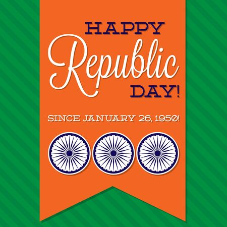 sash: Sash Indian Republic Day card in vector format. Illustration