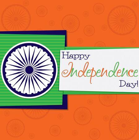 bandera de la india: funky tarjeta de Día de la Independencia en formato vectorial. Vectores