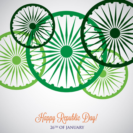 Overlay Republic Day card in vector format.
