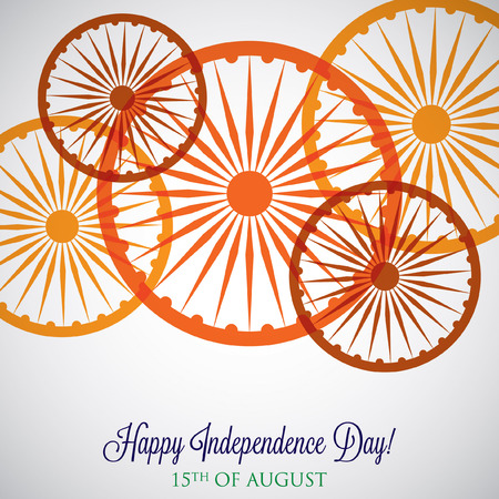 nakładki: Overlay Independence Day card in vector format.