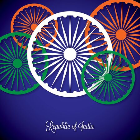 ashoka: Overlay Independence Day card in vector format.