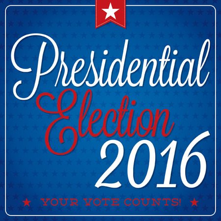 typographic: American election typographic card in vector format. Illustration