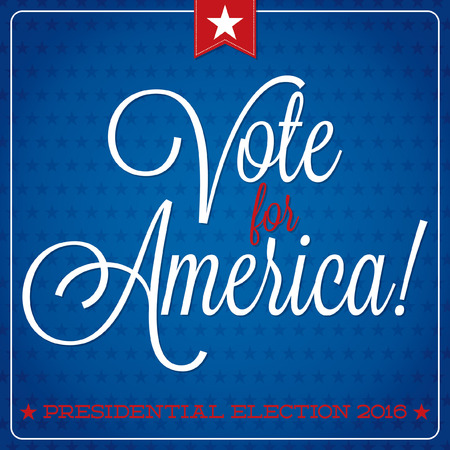 political party: American election typographic card in vector format. Illustration