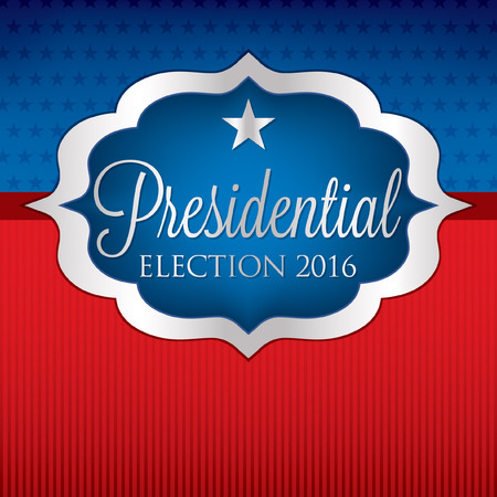 nomination: Label American election card in vector format.