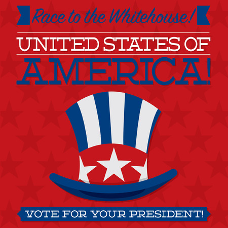 nomination: Retro style American election typographic card in vector format.
