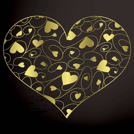 filigree: Elegant filigree heart in vector format.