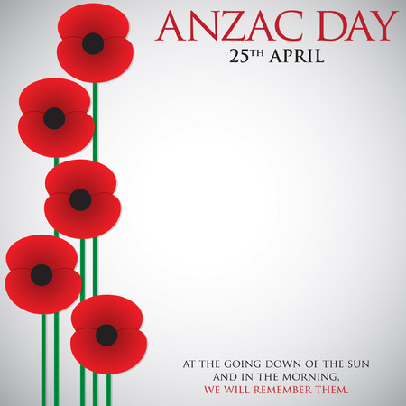 world war one: ANZAC (Australia New Zealand Army Corps) Day card in vector format.