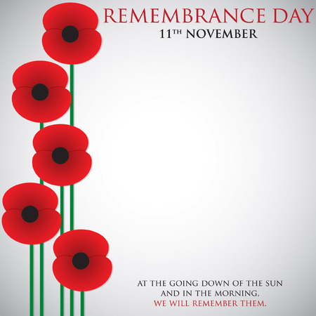 Remembrance Day card in vector format. Illusztráció