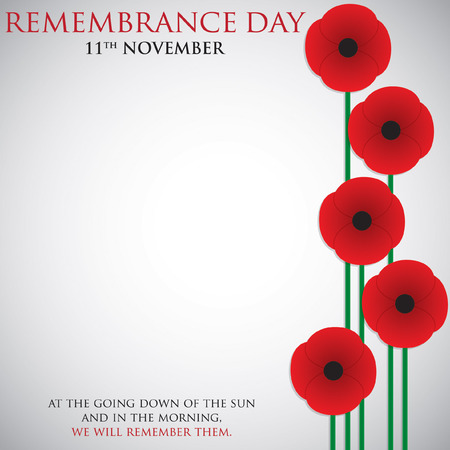 Remembrance Day card in vector format. 矢量图像