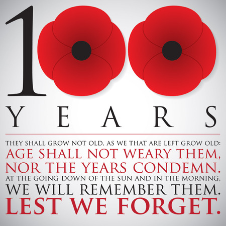 Remembrance ANZAC Day 100 years card in vector format.