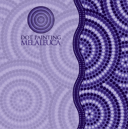 aboriginal art: Abstract Aboriginal dot painting in vector format.