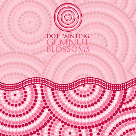 outback australia: Abstract Aboriginal dot painting in vector format.