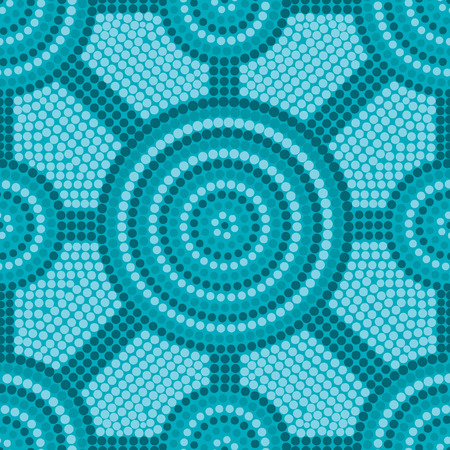 aussie: Abstract Aboriginal dot painting in vector format.