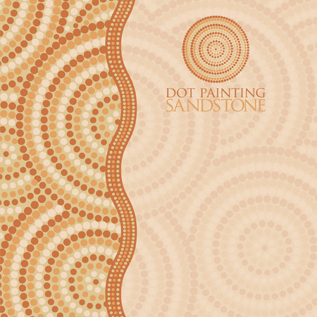 queensland: Abstract Aboriginal dot painting in vector format.