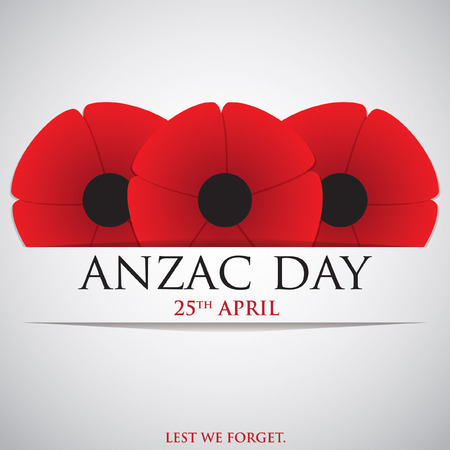 day to day: ANZAC (Australia New Zealand Army Corps) Day card in vector format.