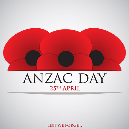 corps: ANZAC (Australia New Zealand Army Corps) Day card in vector format.