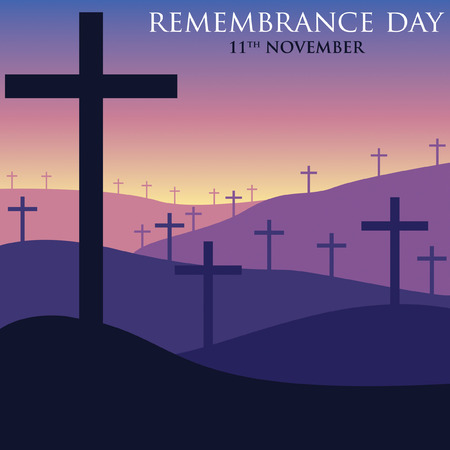 armistice: Remembrance Day card in vector format. Illustration