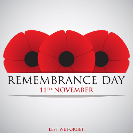 Remembrance Day card in vector format. Stock Illustratie