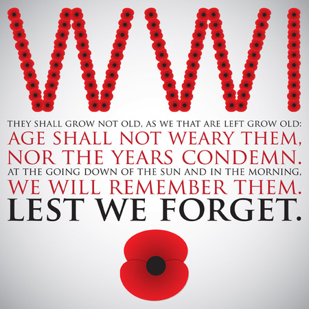 remembrance: Remembrance Day card in vector format. Illustration