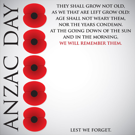 commemorate: ANZAC (Australia New Zealand Army Corps) Day card in vector format.