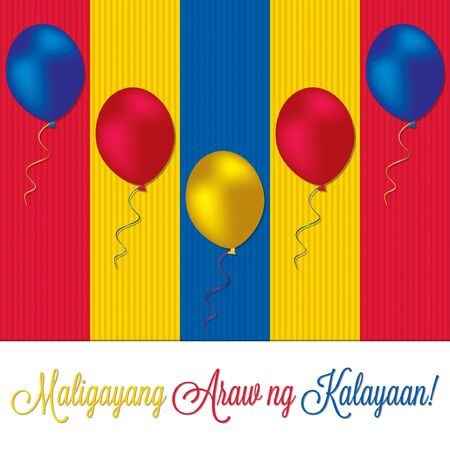 philippine: Philippine Independence Day card in vector format.