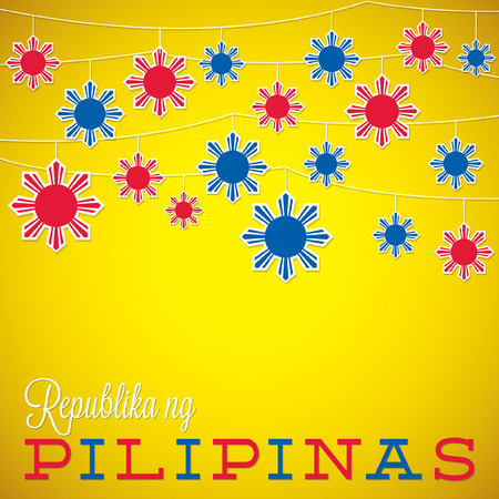 philippine: String Philippine Independence Day card in vector format. Illustration