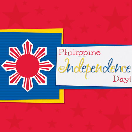 philippine: Funky Philippine Independence Day card in vector format. Illustration