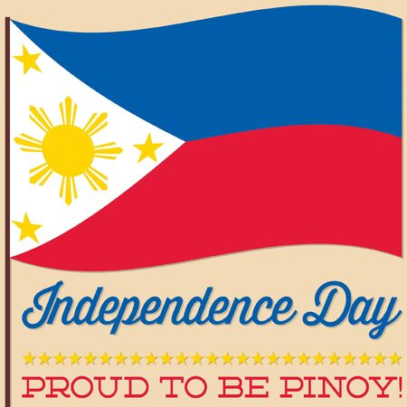 philippine: Flag Philippine Independence Day card in vector format.