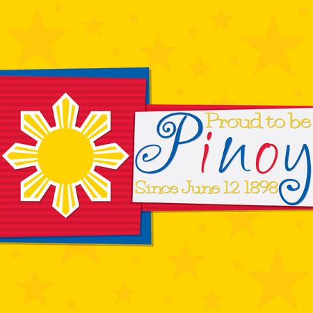 pinoy: Funky Philippine Independence Day card in vector format. Illustration
