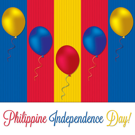 pinoy: Philippine Independence Day card in vector format.