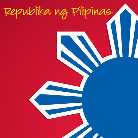 pinoy: Cut out Philippine Independence Day card in vector format. Illustration