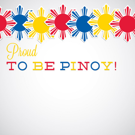 philippine: Line Philippine Independence Day card in vector format. Illustration