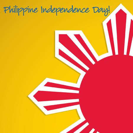 philippine: Cut out Philippine Independence Day card in vector format. Illustration
