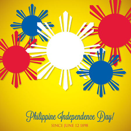pinoy: Overlay Philippine Independence Day card in vector format. Illustration