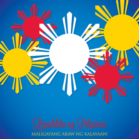 philippine: Overlay Philippine Independence Day card in vector format. Illustration