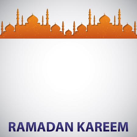 "generoso: Tarjeta de la mezquita (generoso Ramadán) ""Ramadan Kareem"" en formato vectorial."