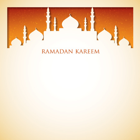 "generoso: Tarjeta de la mezquita (generoso Ramad�n) ""Ramadan Kareem"" en formato vectorial."