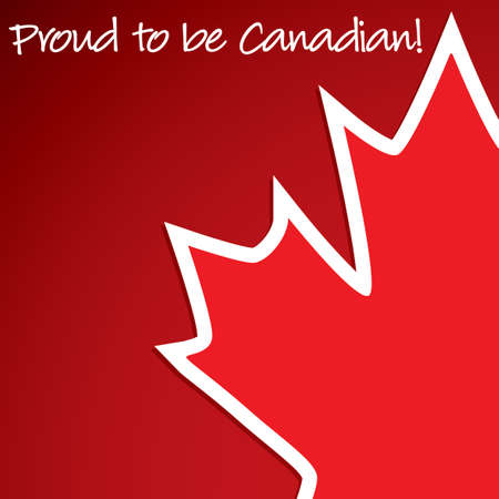 Canada Day card in vector format. Illustration